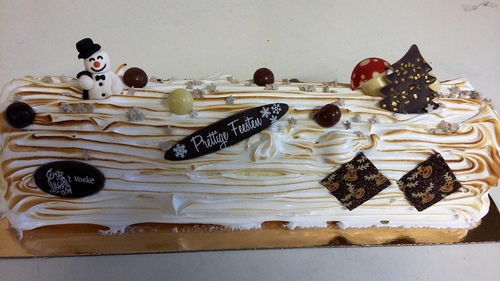 vanille/chocolade afgewerkt met italiaanse schuim 8 pers.