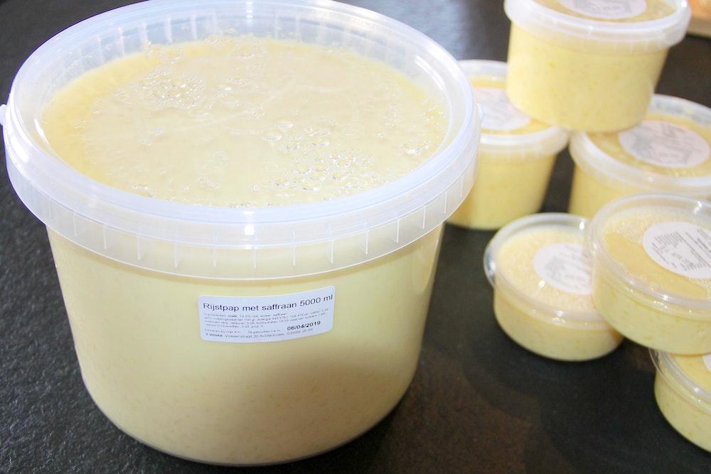 Rijstpap met saffraan 5 liter